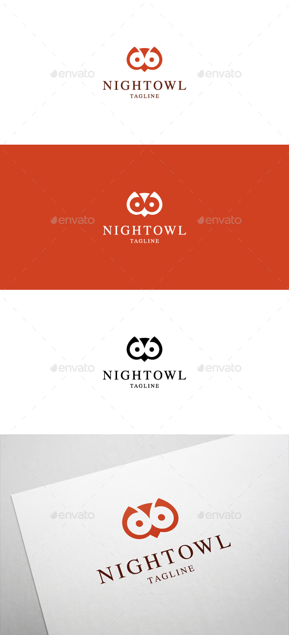 Night Owl Logo - Animals Logo Templates