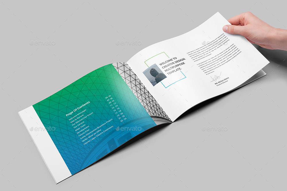 Multi Purpose Agency Landscape Brochure Template By Generousart