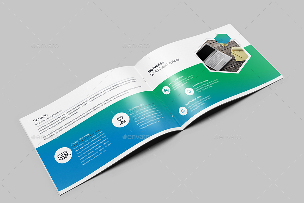 MultiPurpose Agency Landscape Brochure Template By Generousart