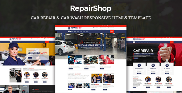 RepairShop – Car Repair & Car Wash Responsive HTML5 Template
