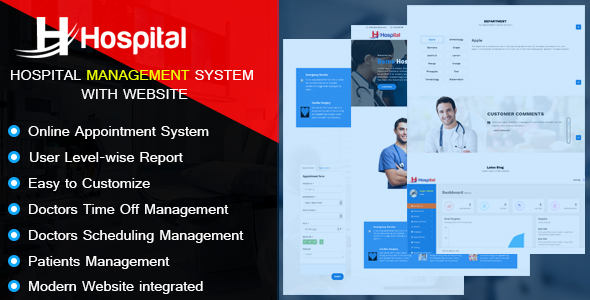 Hospital – Hospital Management System with Website - CodeCanyon Item for Sale