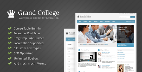 Grand College – WordPress Theme For Education