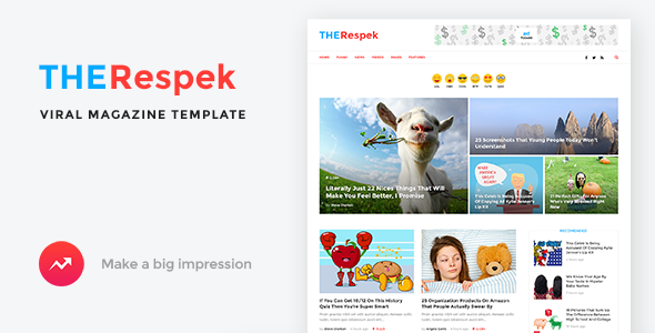 TheRespek - Viral Magazine PSD Template - Preview Image