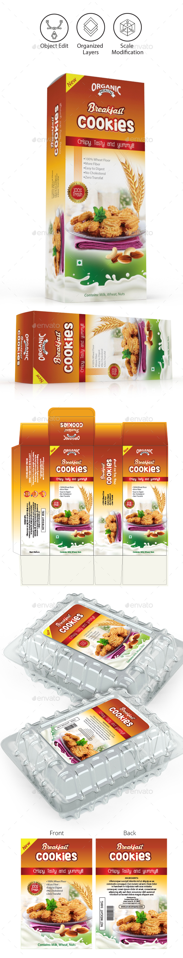 Cookies Packaging Templates - Packaging Print Templates