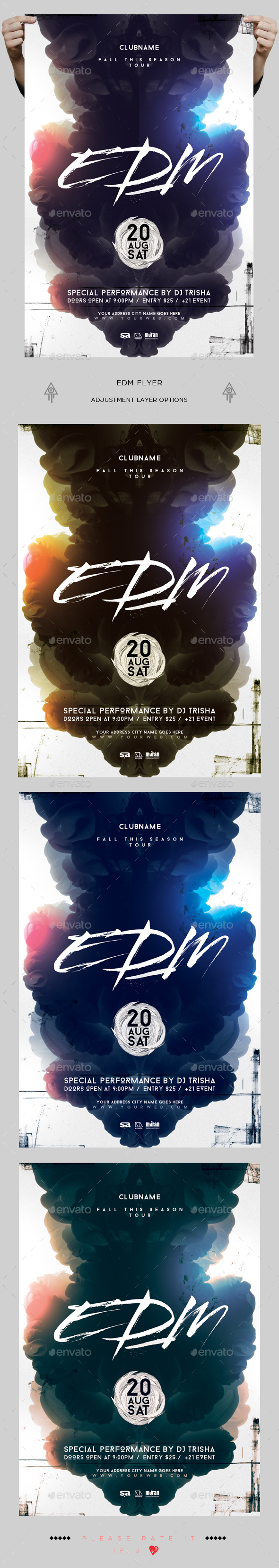 EDM Flyer - Clubs & Parties Events