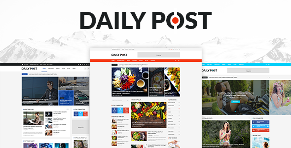 DailyPost - Multi-Purpose Magazine PSD Template - Miscellaneous PSD Templates