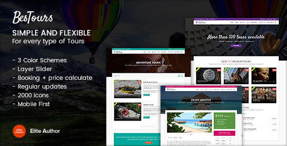 BESTOURS – Tours, Excursions and Travel multipurpose template