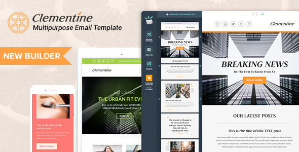 Clementine – Responsive Email Templates + Builder