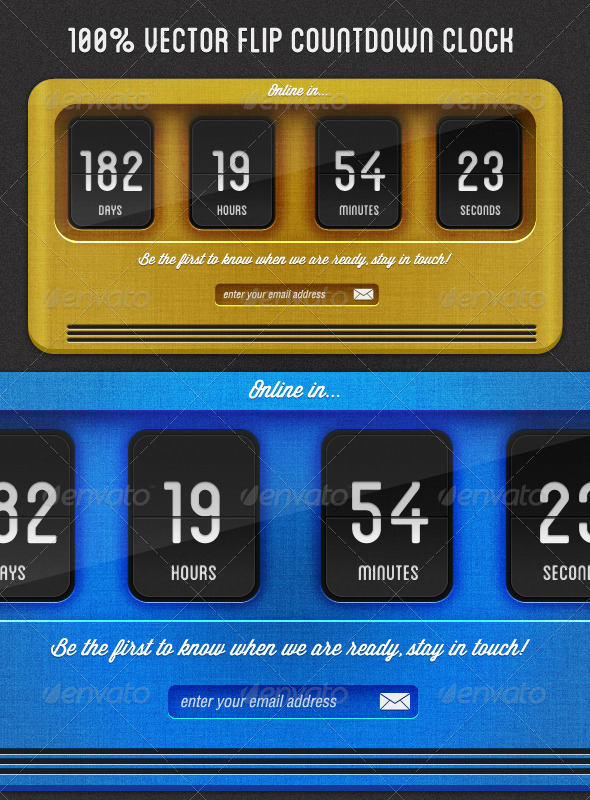 Flip Countdown Clock - Miscellaneous Web Elements
