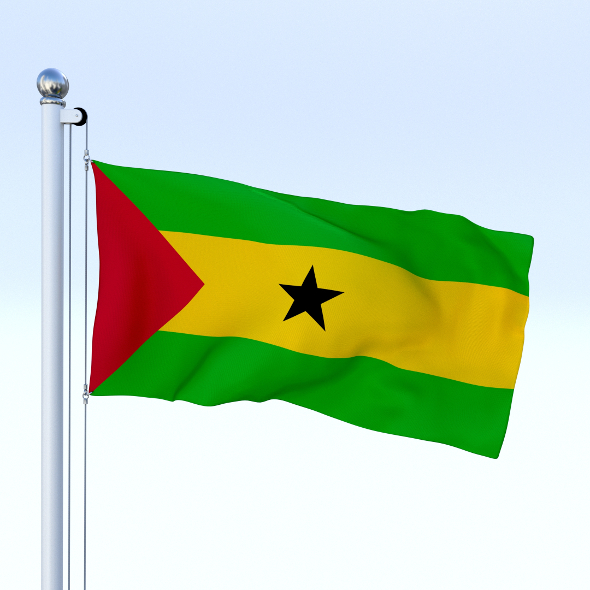 Animated Sao Tome and Principe Flag - 3DOcean Item for Sale