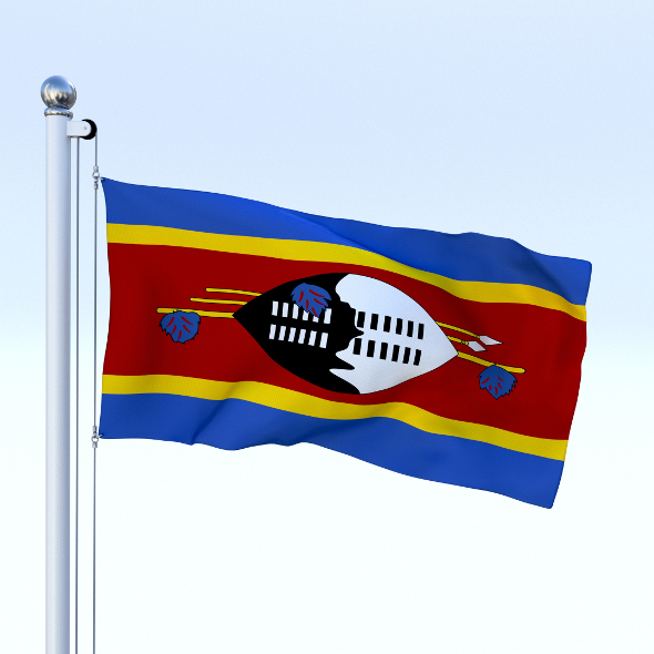 Animated Swaziland Flag - 3DOcean Item for Sale