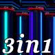 Neon Columns - VJ Loop Pack (3in1) - VideoHive Item for Sale