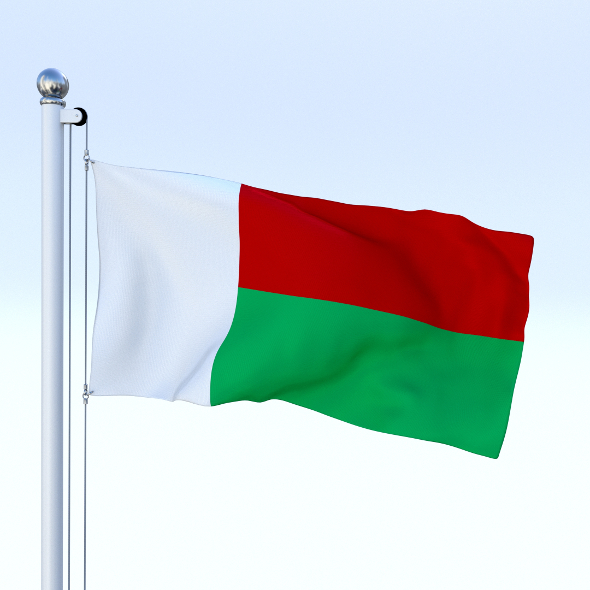 Animated Madagascar Flag - 3DOcean Item for Sale