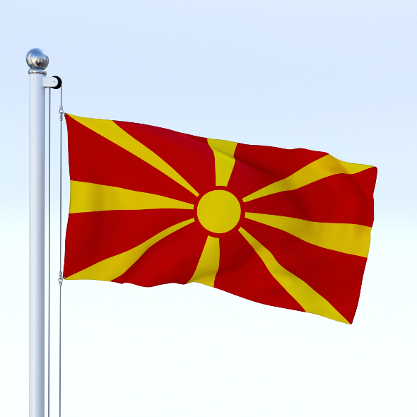 Animated Macedonia Flag - 3DOcean Item for Sale