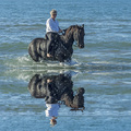 woman horse in the sea - PhotoDune Item for Sale