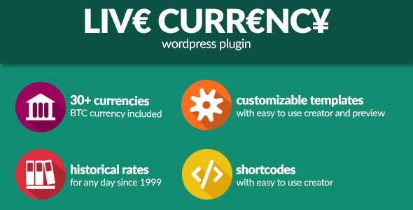 LiveCurrency - Wordpress currency rates - CodeCanyon Item for Sale