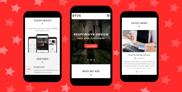 Etos – Responsive Mobile Template
