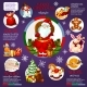 Christmas Infographic Design with Santa Claus - GraphicRiver Item for Sale