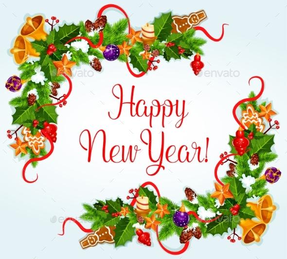 2017 New Year Vector Greeting Card - New Year Seasons/Holidays