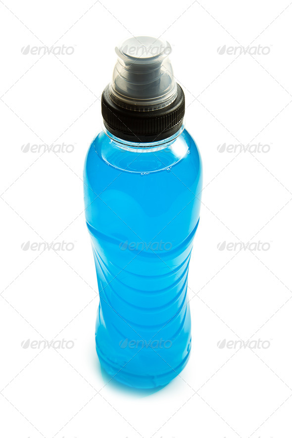 blue energy drink - Stock Photo - Images