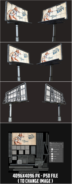 Big Steel Billboards - 3DOcean Item for Sale