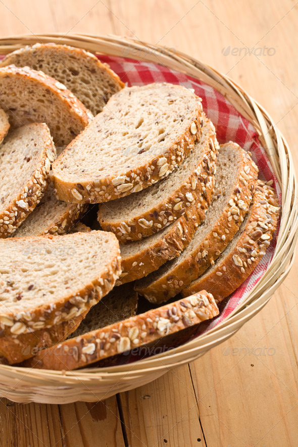 whole wheat bread - Stock Photo - Images