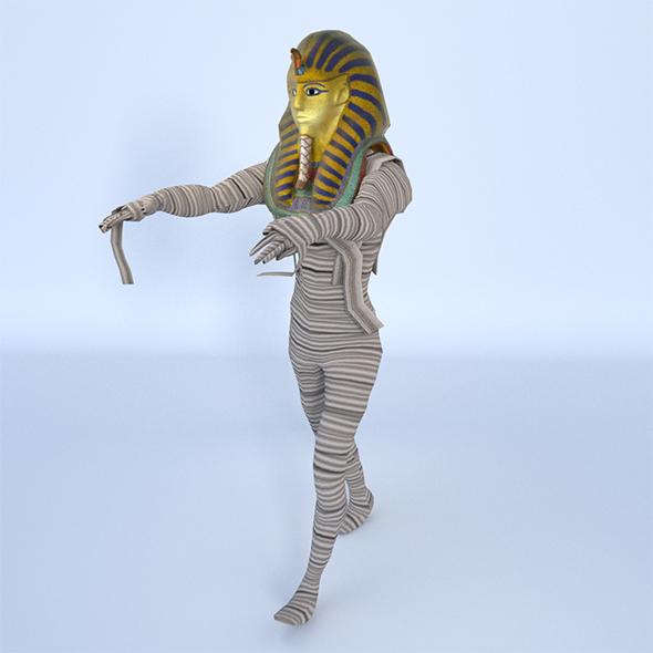 King Tutankhamun Mummy - Game Ready - 3DOcean Item for Sale