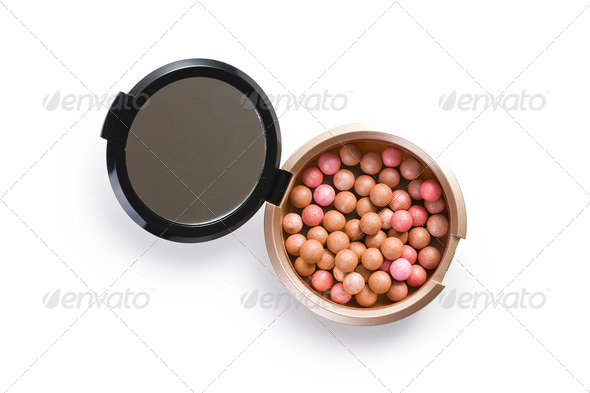 bronzing pearls powder - Stock Photo - Images