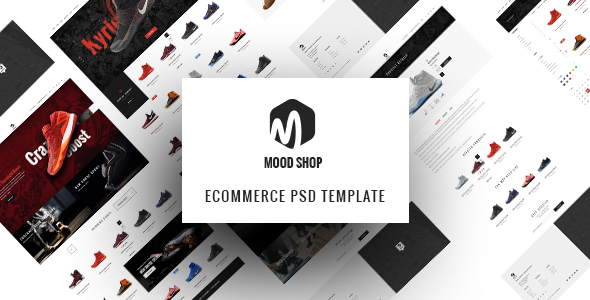 MoodShop – Modern eCommerce PSD Template for Selling Footwear Online
