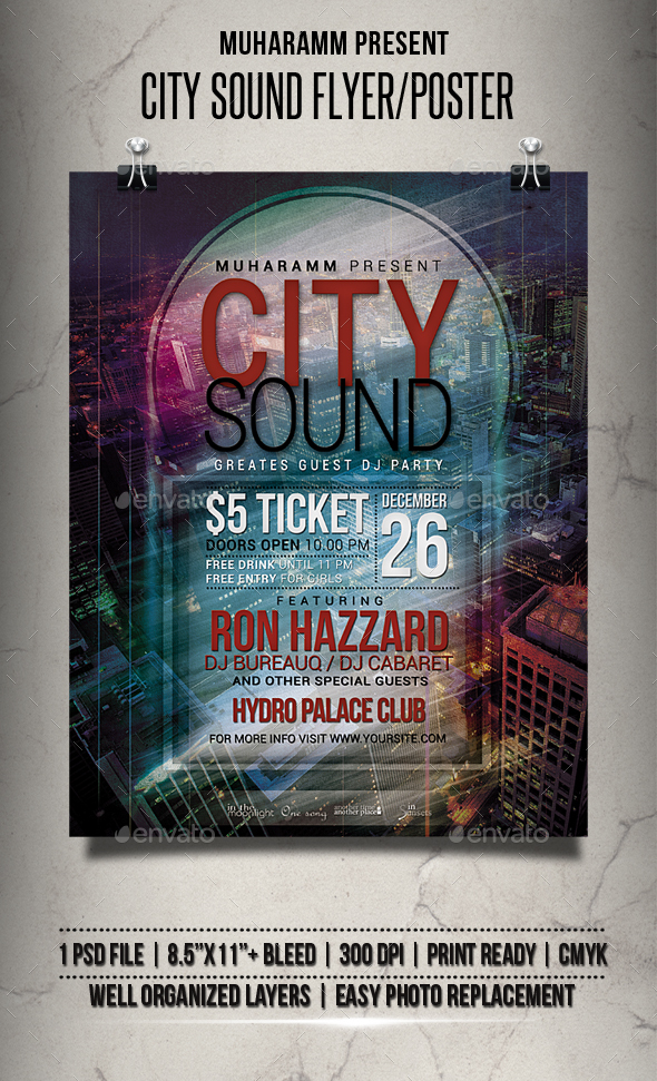 City Sound Flyer / Poster - Clubs & Parties Events