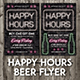 Happy Hours Beer Flyer