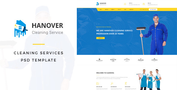 Hanover : Cleaning Services PSD Template