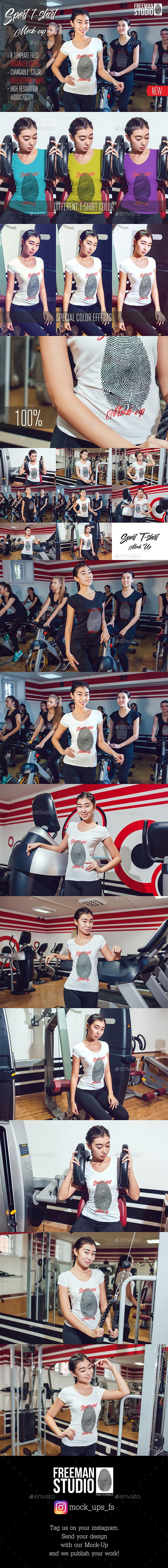 Asian Girl Sport T-Shirt Mock-Up