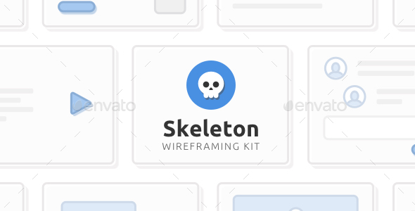 Skeleton Wireframing Kit — 120+ Components for Photoshop - User Interfaces Web Elements