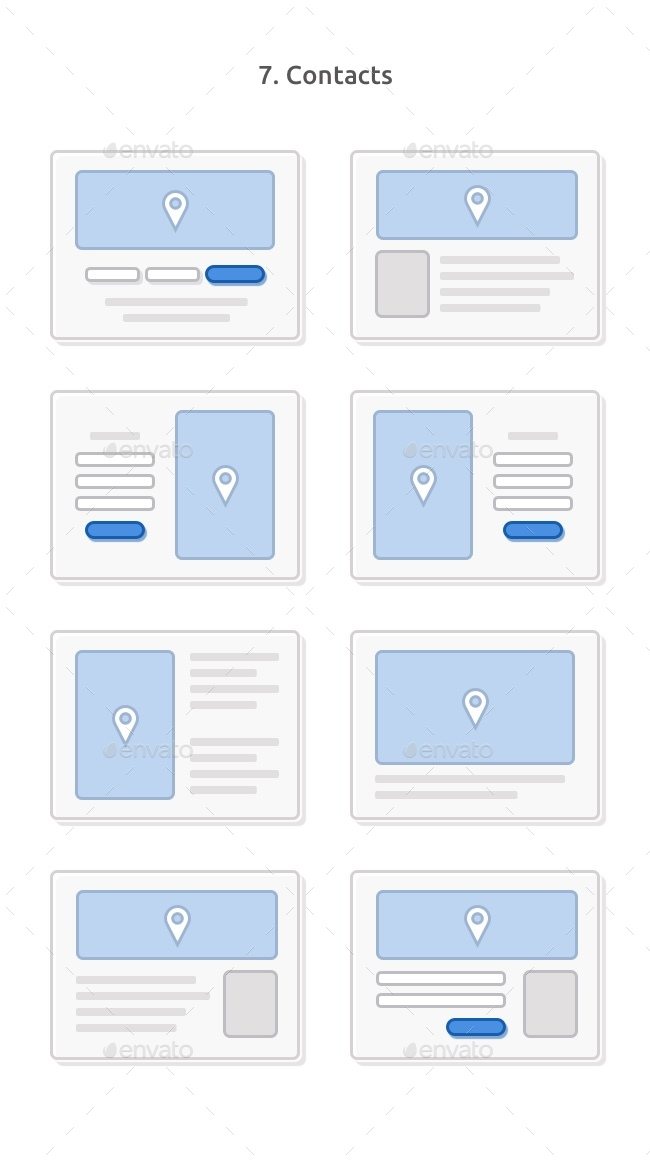 Skeleton Wireframing Kit — 120+ Components for Photoshop by RobertMayer