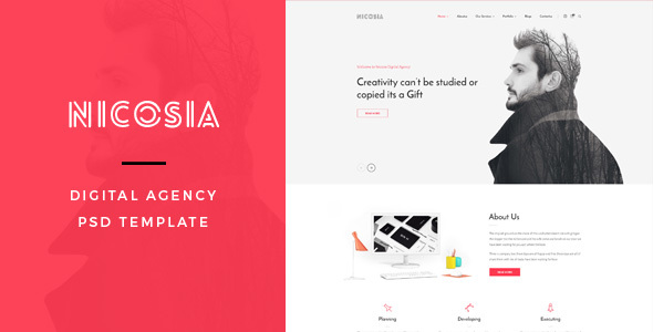 Nicosia : Digital Agency PSD Template - Portfolio Creative