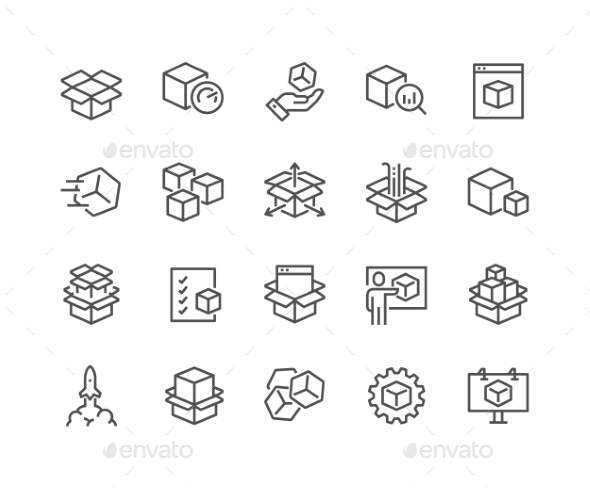 Line Abstract Product Icons - Icons