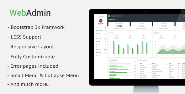 Webadmin – Responsive Admin Dashboard Template
