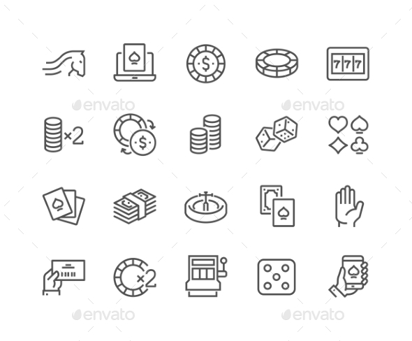 Line Gambling Icons - Icons