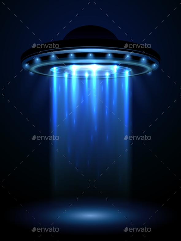 Aliens Ufo, Interstellar Spaceship Vector - Objects Vectors