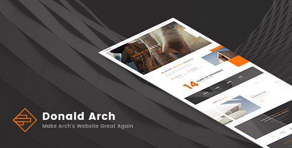 Donald Arch – Responsive Architecture HTML5 Template