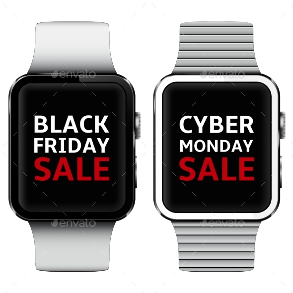 Smart Watches with Black Friday and Cyber Monday - Retail Commercial / Shopping