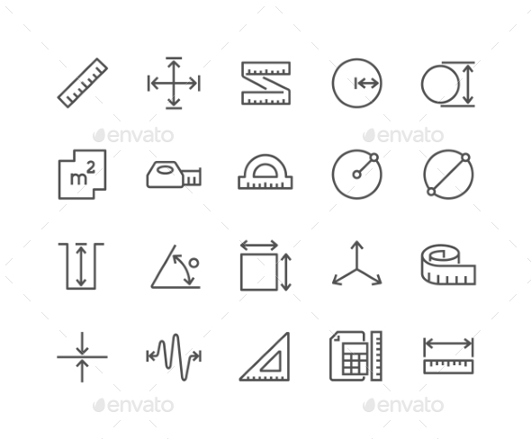 Line Measure Icons - Icons