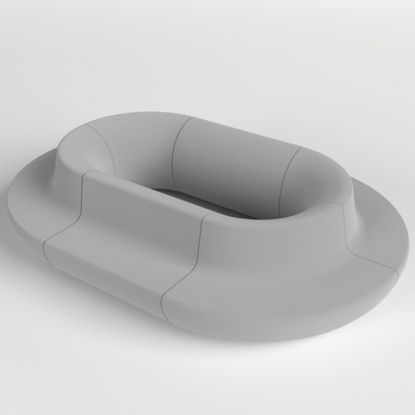 Oval Couch, Sofa - 3DOcean Item for Sale