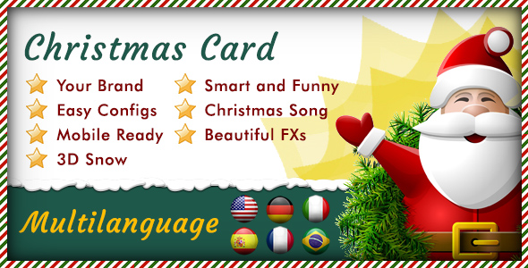 Multilanguage Responsive Christmas Card - CodeCanyon Item for Sale
