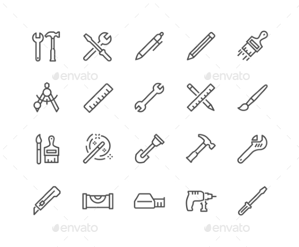 Line Tools Icons - Icons