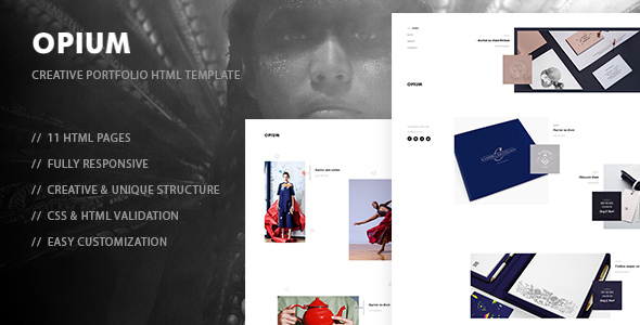 Opium – Creative Photography, Portfolio HTML Template