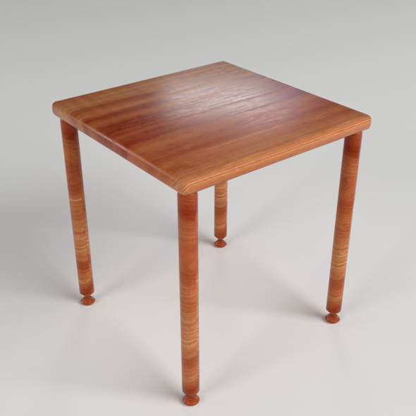 Small Side Table 4 - 3DOcean Item for Sale