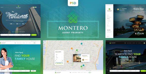 Montero – Real Estate & Property PSD Template - Business Corporate