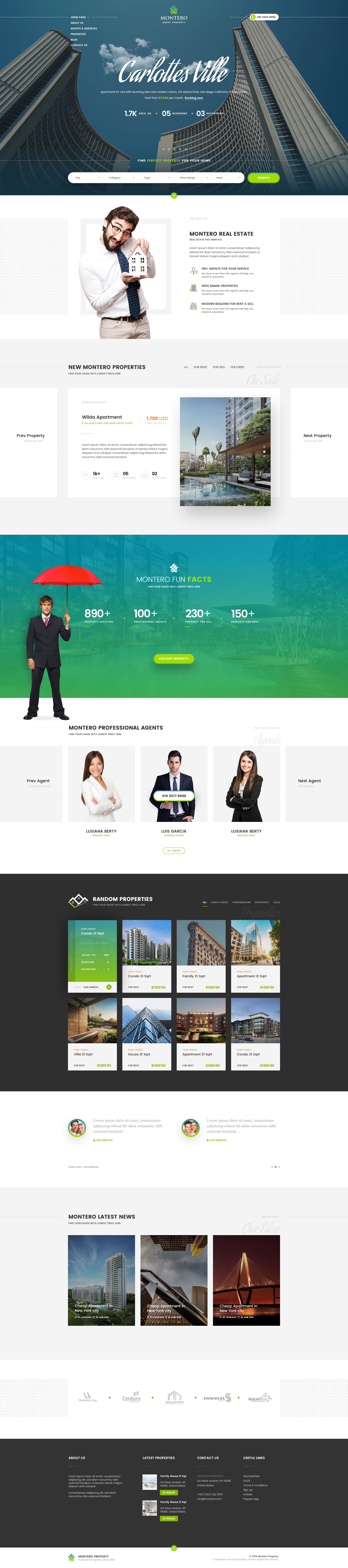 Montero Real Estate Property Psd Template By Youwes Themeforest